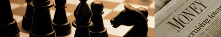 Photo of a Strategic Chess Match and Newspaper